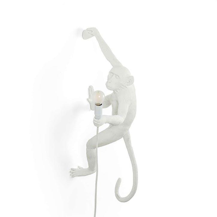 Monkey Lamp, Hanging Right White