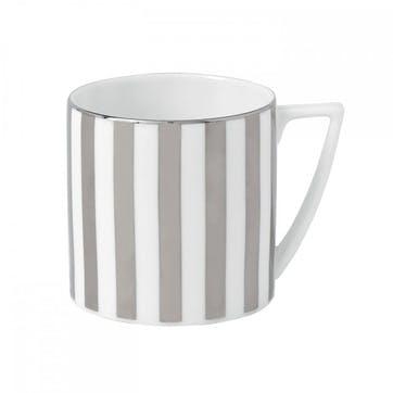 Platinum Striped Mug, Small