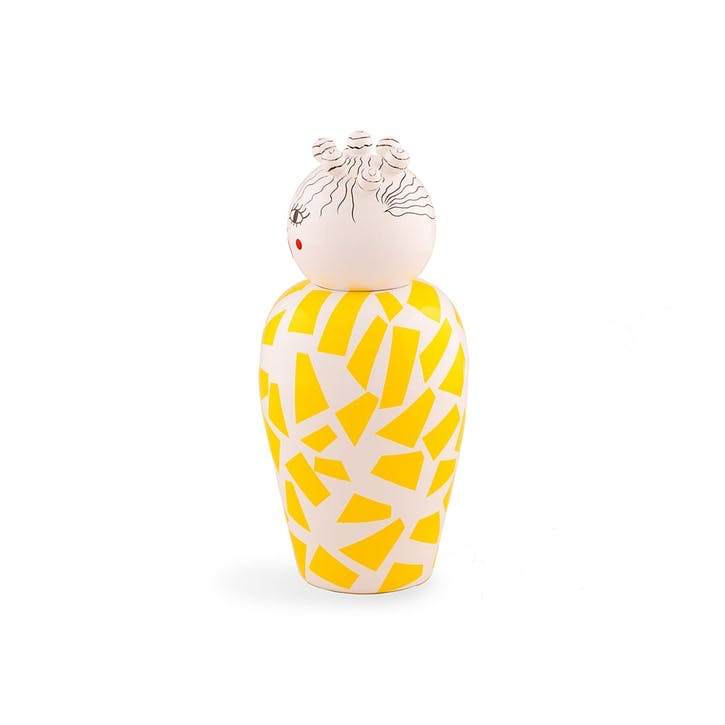 Canopie, Vase with Lid, Yellow