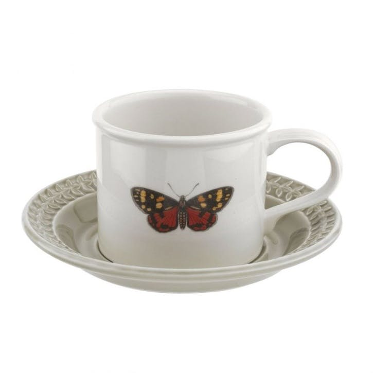 Breakfast Cup & Saucer, Stone