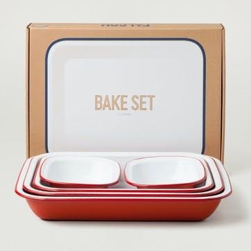 Bake Set, Pillarbox Red