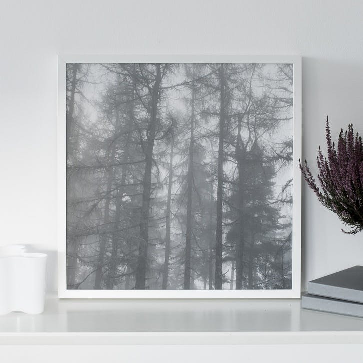 Silent Wood Print - 30 x 30cm