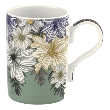 Atrium Floral 12oz Mug, Set of 4
