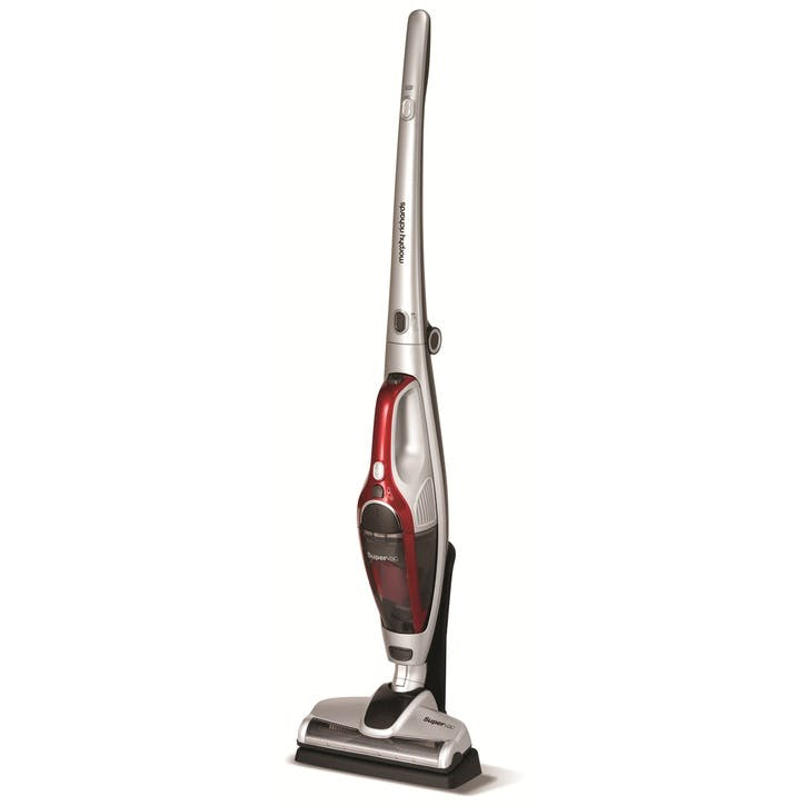 SuperVac 2-in-1 Cordless Vacuum Cleaner, Silver & Red
