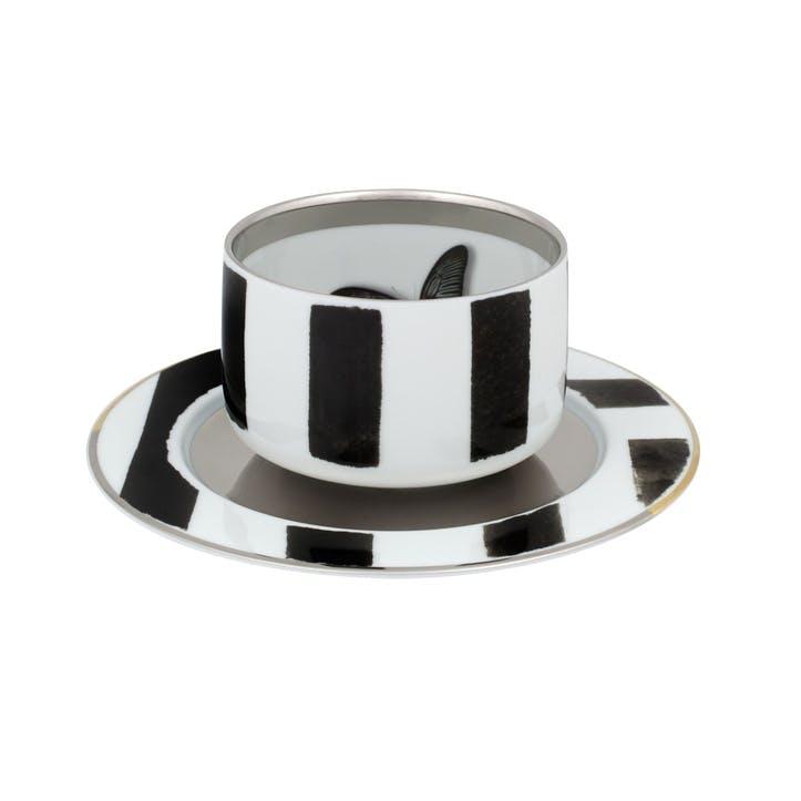 Sol Y Sombra Tea Cup & Saucer