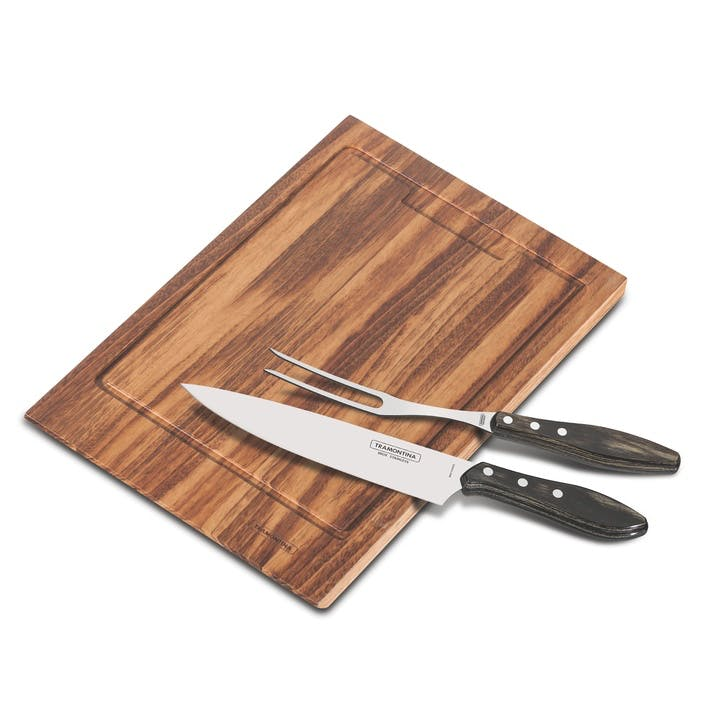 Barbecue Set, Rectangle Board, 3 Piece