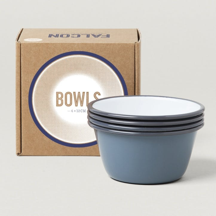 12cm Bowls, Pigeon Grey