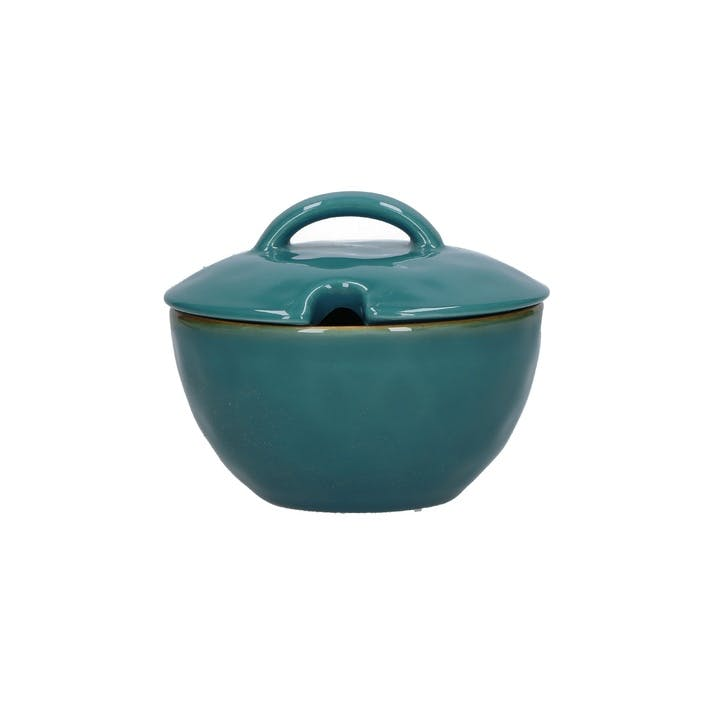 Concerto Sugar Bowl, Teal Blue