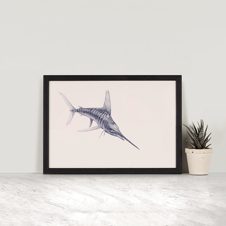 Striped Marlin Print - A4