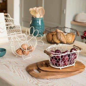 Provence Oval Basket, Cream