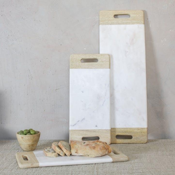 Bwari Marble Platter - Small; White
