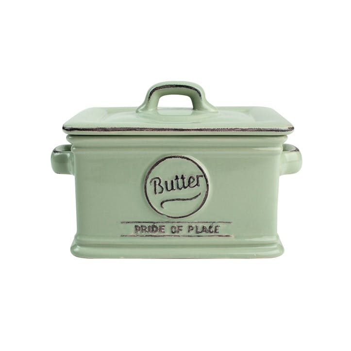 Pride of Place Butter Dish, Old Green