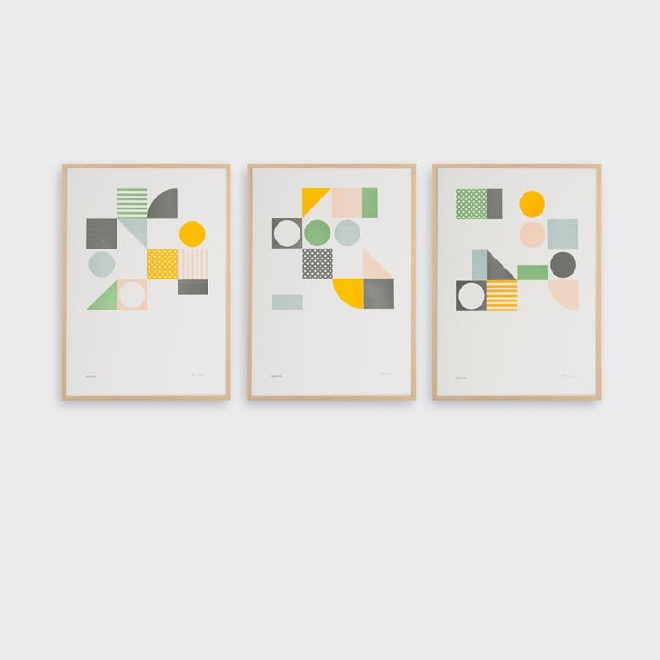 Playground, Set of 3 Prints, H42 x L30cm