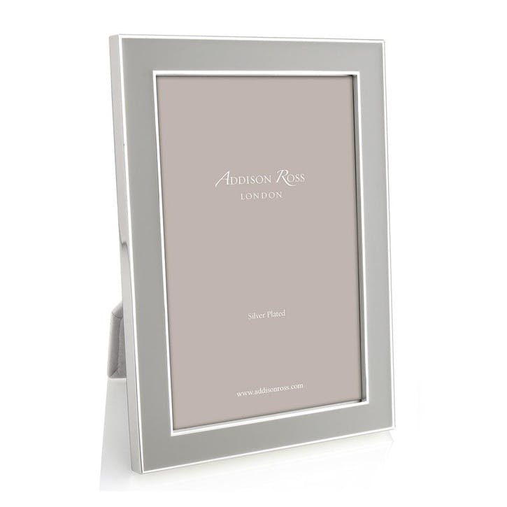 Chiffon Enamel & Silver Photo Frame