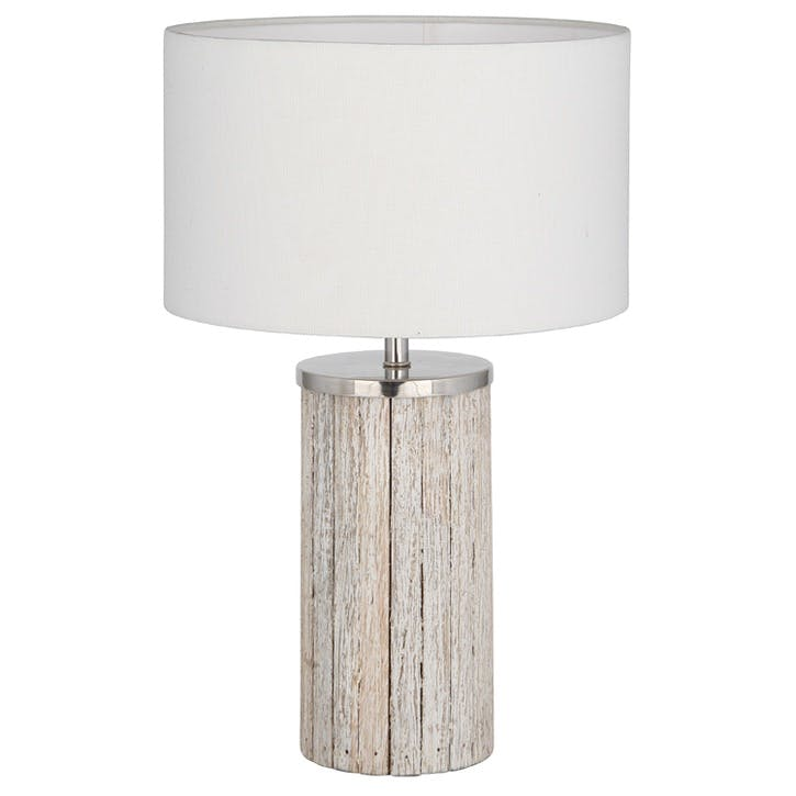 Haley Grey Wash Wood Column Lamp