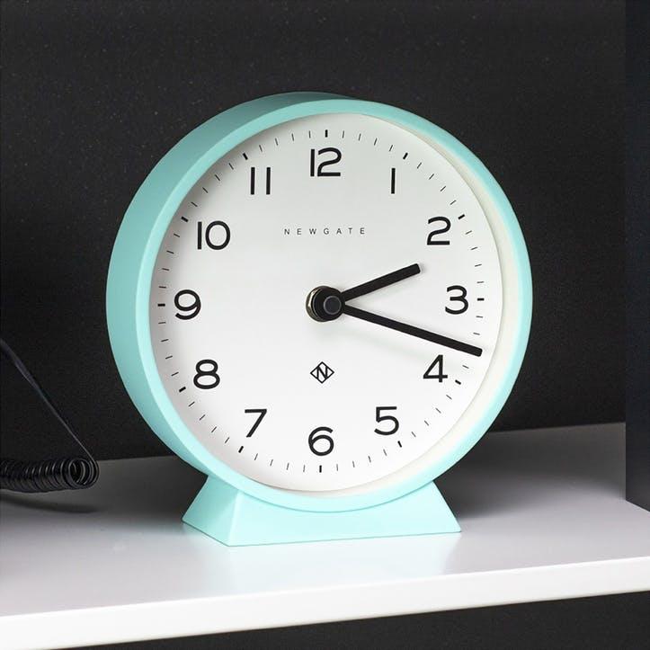 M Mantel Echo, Mantel Clock, W17cm x D6cm x H17cm , Aquamarine