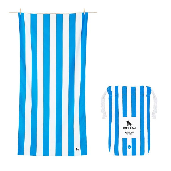 Cabana Beach Towel, Bondi Blue, Extra Large