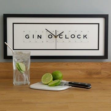 'Gin O'Clock' Clock