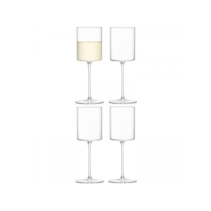 LSA Otis White Wine Glass, Set of 4, 240ml