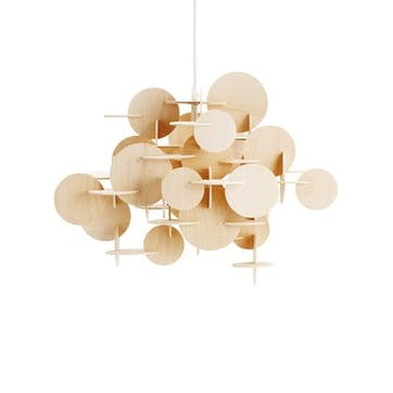 Bau Large Ceiling Light Shade L57 x H51cm Natural