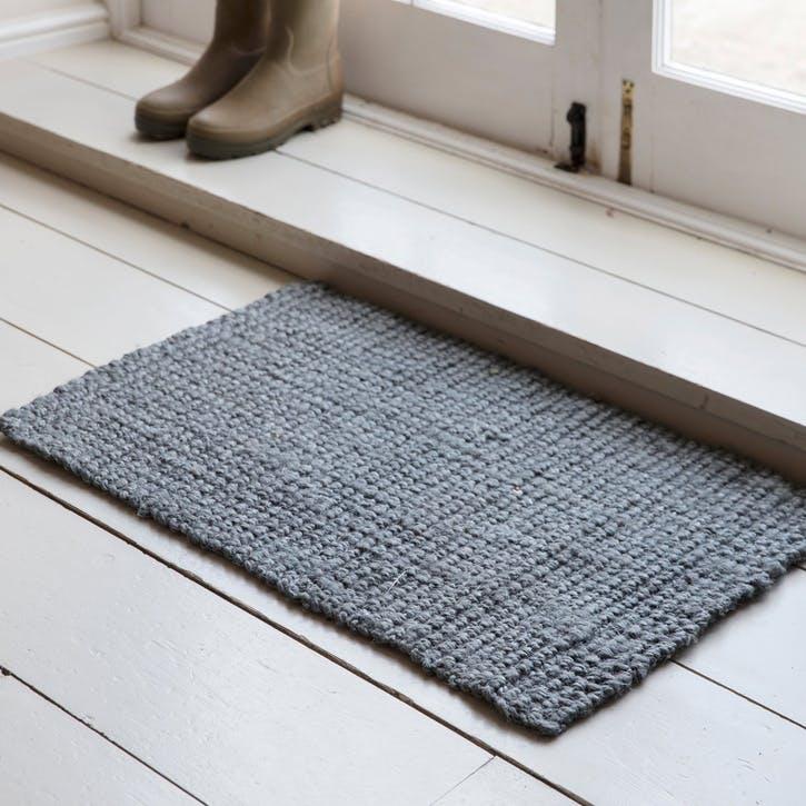 Jute Doormat, Grey