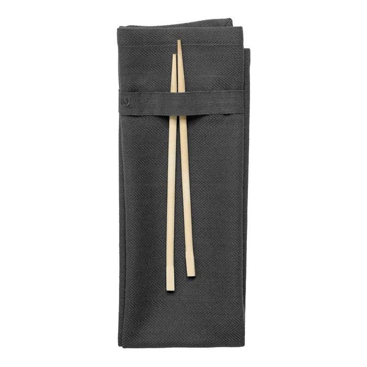 Herringbone Napkin, L50 x W40cm, Dark Grey