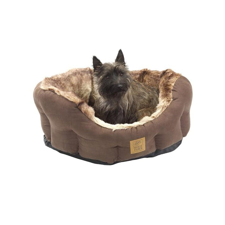 Arctic Fox Snuggle Oval Dog Bed, Small