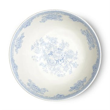 Asiatic Pheasants Footed Bowl, Large, Blue