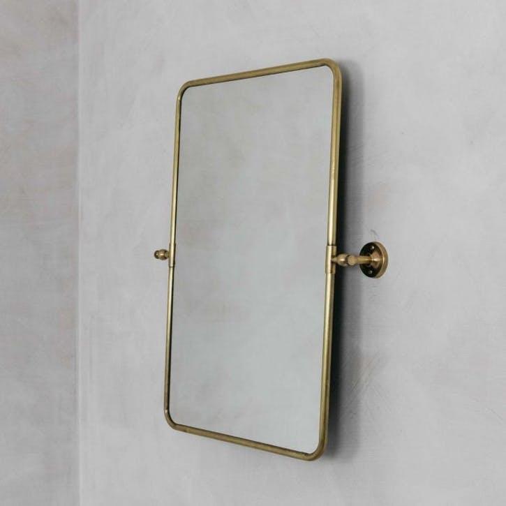 Otto Rectangular Tilting Mirror, Gold
