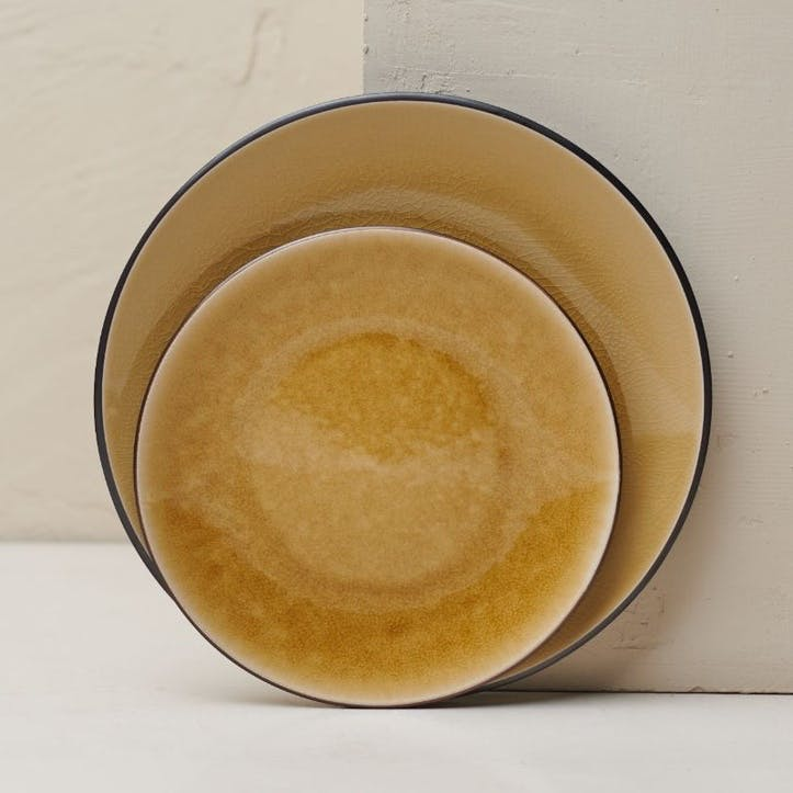 Bao Dinner Plate; Mustard