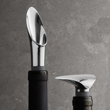 Wine & Bar Stopper & Pourer Set