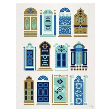 Cat Coquillette Moroccan Doors Canvas, 30 x 40cm
