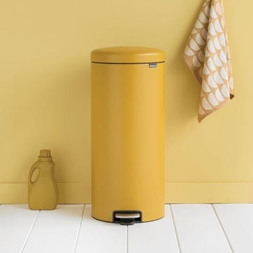 NewIcon Pedal Bin, 30L, Mineral Mustard Yellow,
