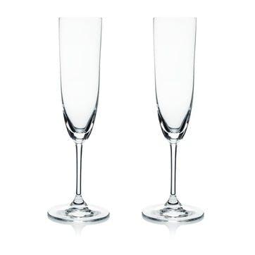 Vinum Champagne Glasses, Set of 2