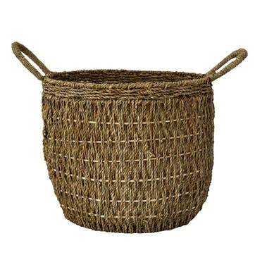 Seagrass, Lined Baskets Small, Natural
