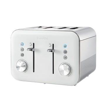 High Gloss 4 Slice Toaster; White