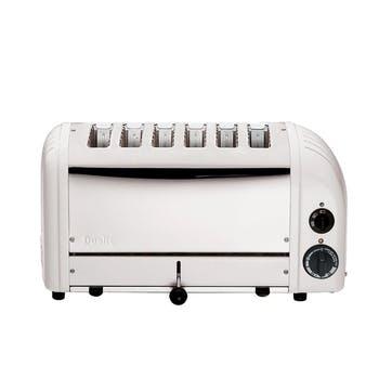 Classic Vario 6 Slot Toaster, White
