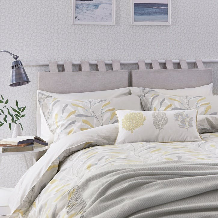 Sea Kelp Double Duvet Cover, Ochre
