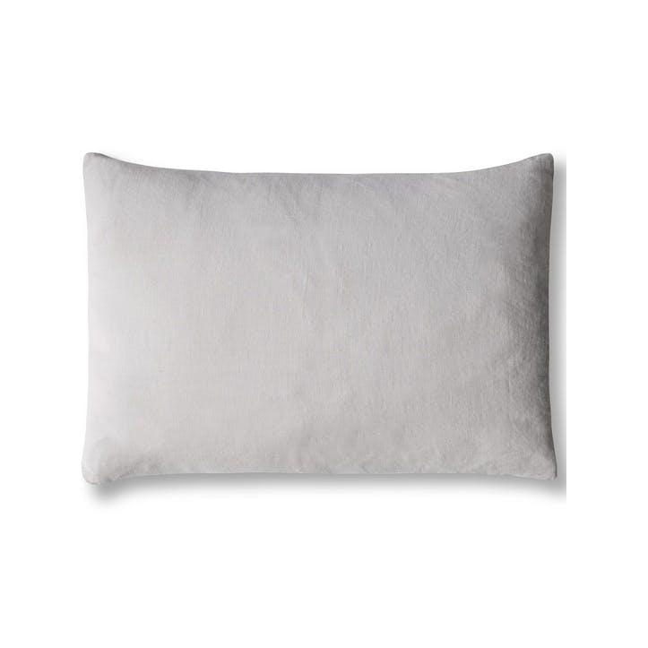 Mini Linen Cushion Cover, Dove Grey