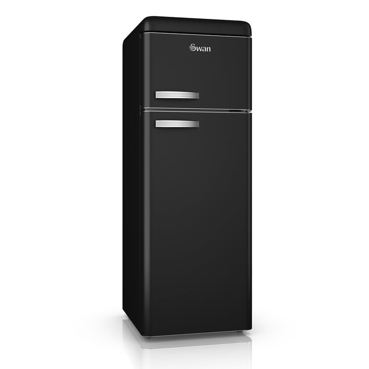 Retro Top-Mounted Fridge Freezer, Black