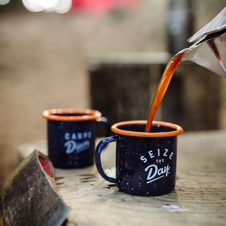 Enamel Espresso Mug Set