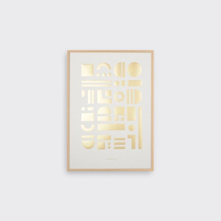 Artefact Brass, Print, H42 x L30cm