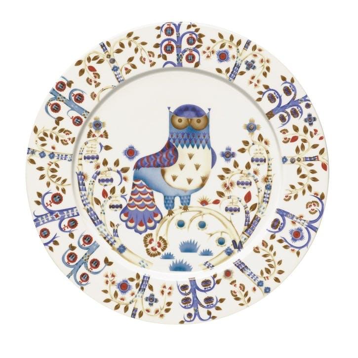 Taika Serving Plate, White
