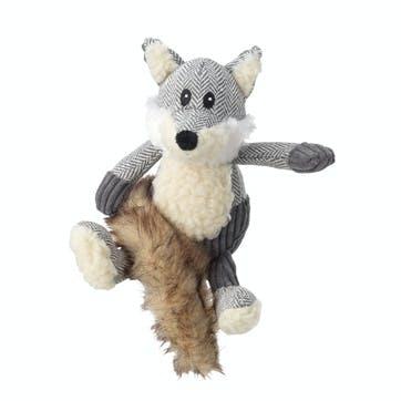 Bushy Tail Tweed Fox Dog Toy