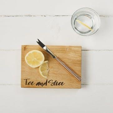 """""""Ice & Slice"""" Oak Chopping Board"""