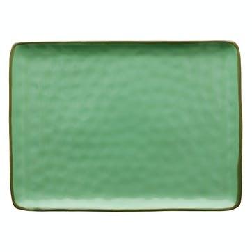 Concerto Serving Platter, Large, Tiffany Green