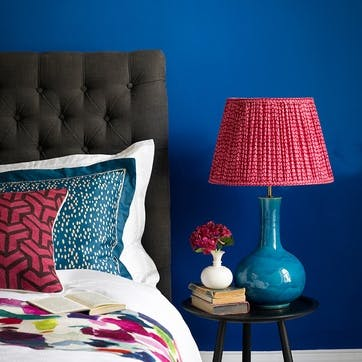 Nellie Table Lamp in a Turquoise Glaze, 34cm