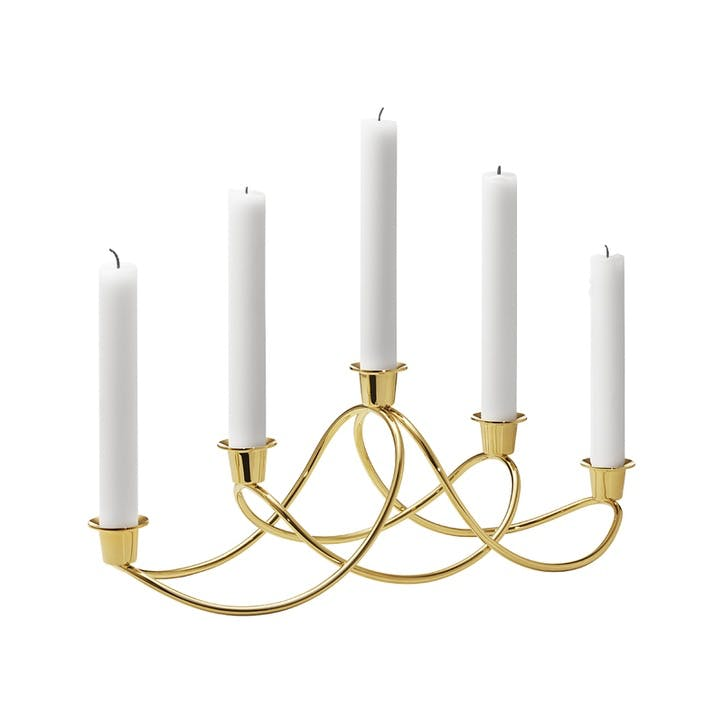Harmony Candle Holder, Gold