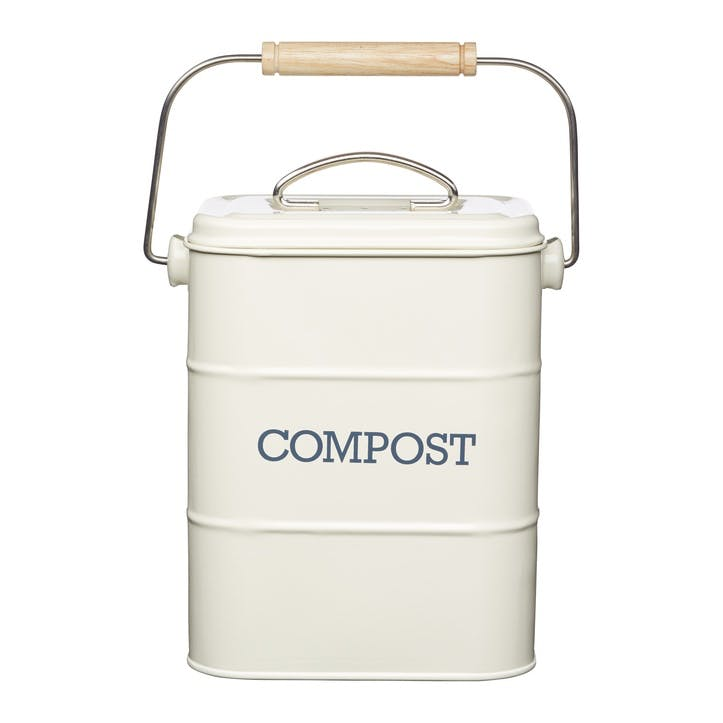 Living Nostalgia Compost Bin in Antique Cream