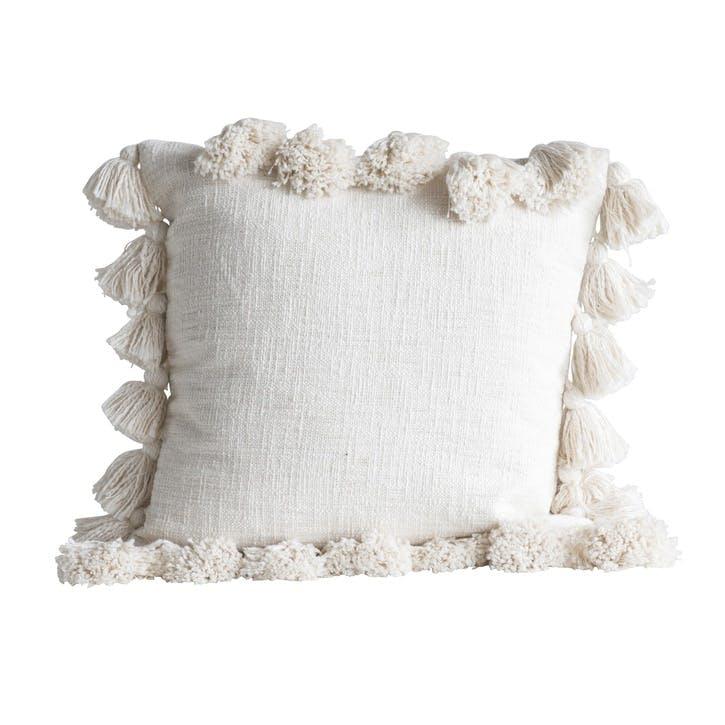 Chateau Cotton Cushion, Natural